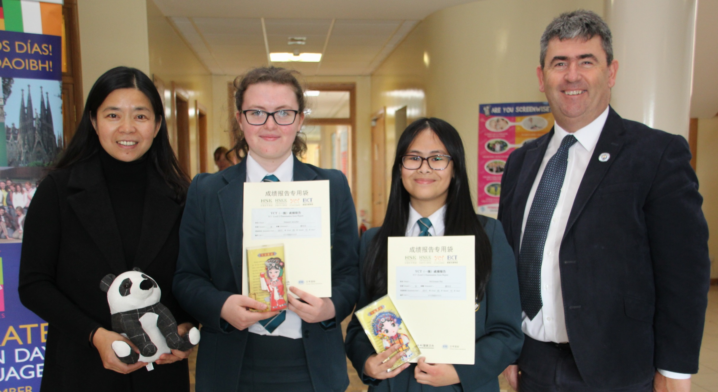 Top performing Year 10 pupils with their YCT1 Certificates
